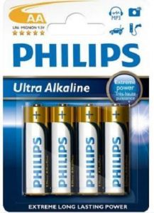 Бат Philips Ultra Alkaline LR-6 блистер 1х4шт /4/48/