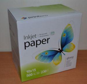 Фотобумага PrintPro 230g A6 500л глянец
