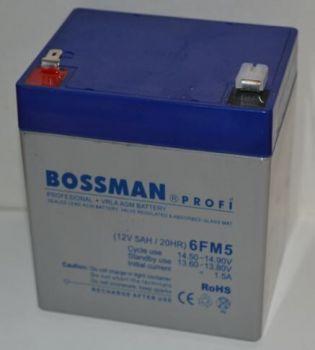 Акк Bossman Profi 12v 5Аh 6FM5 (90x70x101+5mm)
