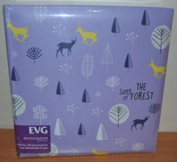 Фотоальбом на 200 фото 10х15 с местом для записей EVG Purple
