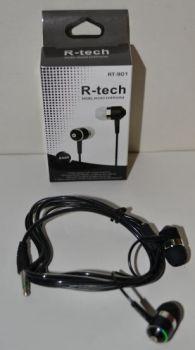 Вакуумные наушники R-tech RT-901 black (черные)