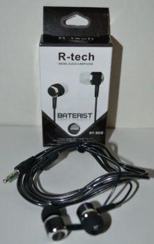Вакуумные наушники R-tech RT-902 black (черные)