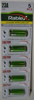 Батарейка Rablex 23A блистер 1х5шт /1/5шт.
