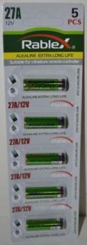Батарейка Rablex 27A блистер 1х5шт /1/5шт.