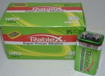 Батарейка крона Rablex 6LR61 коробка 1x1шт /1/10шт.