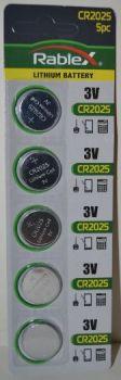 Батарейка Rablex CR-2025 Lithium 1х5шт /1/5/100шт.