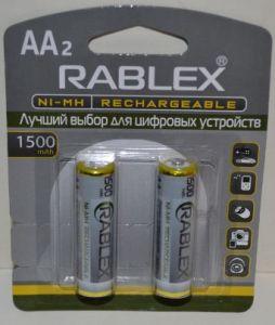 Аккумуляторы Rablex HR-6 2100mAh Ni-MH блистер 1х2шт /2/24шт.