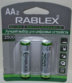 Аккумуляторы Rablex HR-6 2500mAh Ni-MH блистер 1х2шт /2/24шт.