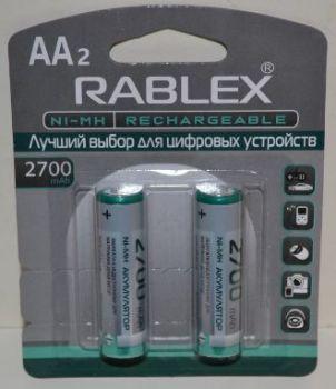 Аккумулятор Rablex HR-6 2700mAh Ni-MH блистер 1х2шт /2/24шт.