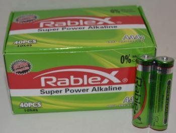 Батарейка Rablex LR-03 коробка 1x2шт /2/40/1000шт.