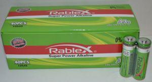 Батарейка Rablex LR-6 (АА-пальчиковая) коробка 1x2шт /2/40/1000шт.