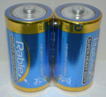 Батарейка Rablex R-20 (D) коробка 1х2шт /2/24шт.