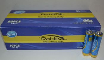 Батарейки Rablex R-6 коробка 1x2шт /2/60/