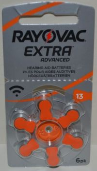 Часовая батарейка Rayovac ZA13 (PR48) блистер 1х6шт /6/60шт.