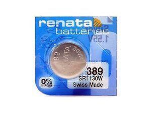 Час Renata 389 (SR-1130W, SR-54) AG10 блистер 1х10шт /1/10/