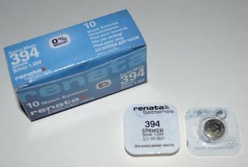 Часовая батарейка Renata 394 (SR-936SW, SR-936) AG9 1х1шт /1/10шт.
