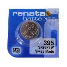 Часовая батарейка Renata 395 (SR-927SW, SR-57) AG7 блистер 1х10шт /1/10/