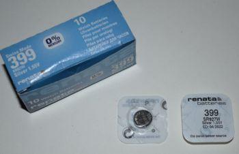 Часовая батарейка Renata 399 (SR-927W, SR-57) AG7 1х1шт /1/10шт.