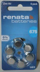 Батарейка Renata ZA675 (PR44) для слуховых аппаратов /6/60шт.