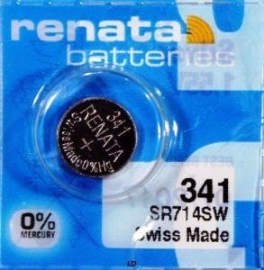 Часовая батарейка Renata 341 (SR-714SW) блистер 1х10шт /1/10шт.