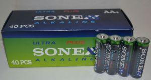 Батарейки SONEX Alkaline LR-6 (АА-пальчиковая) коробка 1х4шт /4/40шт.