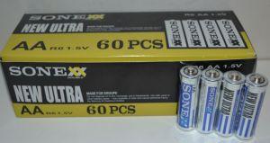 Батарейка SONEX R-6 (АА) коробка 1х4шт /4/60шт.