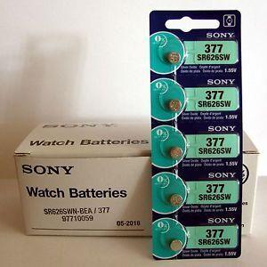 Часовая батарейка SONY 377 (SR-626SW, SR-66) AG4 блистер 1х5шт /1/5/100/