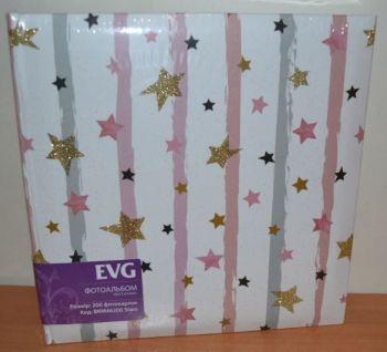 Фотоальбом на 200 фото 10х15 с местом для записей EVG Stars