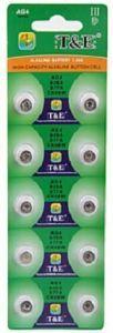 Часовые батарейки T&E AG4 (LR626) блистер 1х10шт /10/200/