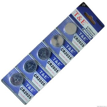 Батарейка T&E CR-2025 Lithium 1х5шт /5/100/