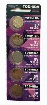 Батарейка Toshiba CR-1616 Lithium 1х5шт