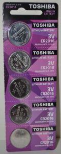 Батарейка Toshiba CR-2016 Lithium 1х5шт /1/5/50шт.