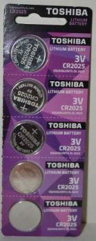 Батарейка Toshiba CR-2025 Lithium 1х5шт /1/5/50/