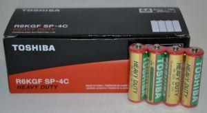 Батарейка Toshiba (красная) R-6 (АА-пальчиковая)  коробка 1х4шт /4/40/1000/