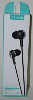 Вакуумные наушники с микрофоном USAMS EP-12 black