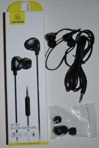Вакуумные наушники с микрофоном USAMS EP-40 black