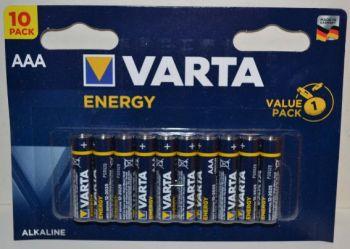 Батарейки VARTA Energy LR-03 блистер 1х10шт /10/200