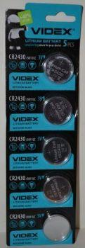 Батарейка Videx CR-2430 Lithium 1х5шт /1/5/