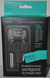 Зарядное устройство Videx VCH-UT201 1..2*AA/AAA/C/SC/ NiCd/NiMh/Li-ion/IMR/ 1000mAh