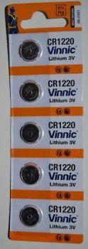 Батарейка Vinnic CR-1220 Lithium 1х5шт /1/5/100шт.