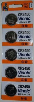 Батарейка Vinnic CR-2450 Lithium 1х5шт /1/5/100шт.