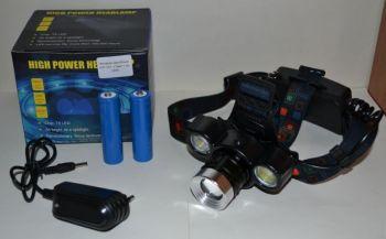 Фонарик налобный WD-001 + 2 аккумулятора + зарядное устройство