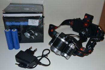 Фонарик налобный WD-300 + 2 аккумулятора + зарядное устройство