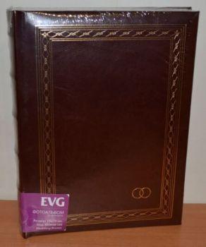 Свадебный фотоальбом на 100 фото 15х20 с местом для записей EVG Wedding brown