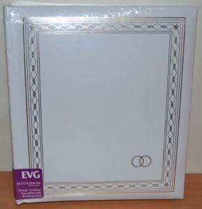 Фотоальбом на 200 фото 13х18 с местом для записей EVG Wedding white
