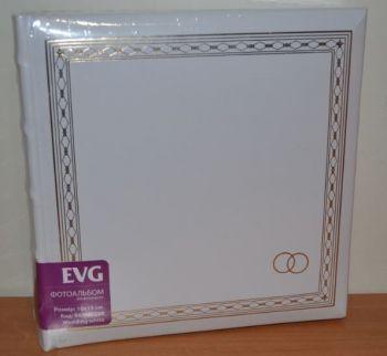 Свадебный фотоальбом на 200 фото 10х15 с местом для записей EVG Wedding white
