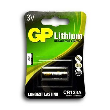 Батарейка GP CR-123A Lithium 1x1шт /1/10/