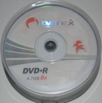 Медиа DVD+R Datex 4.7GB 8x Cake 25