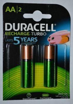 Акк Duracell HR-6 2500mAh Ni-MH блистер 1х2шт /2/20/