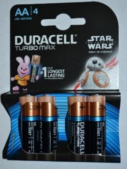 Бат Duracell Turbo LR-6 МХ1500 блистер 1х4шт /4/80/240/